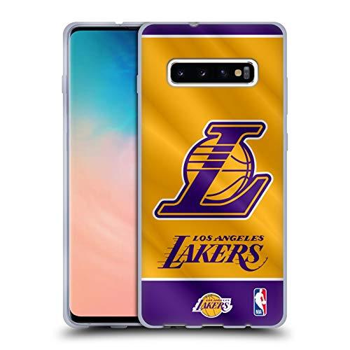 Head Case Designs Oficial NBA Estandarte 2019/20 Los Angeles Lakers Carcasa de Gel de Silicona Compatible con Samsung Galaxy S10+ / S10 Plus