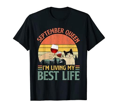 September Girl - Im Living My Best Life Shirt Vintage Retro T-Shirt