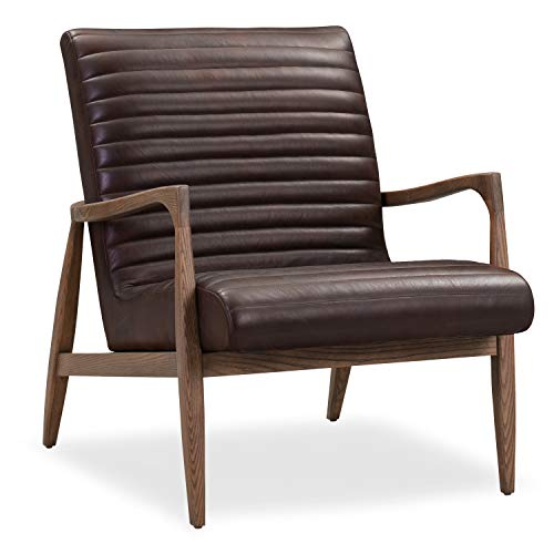 Poly and Bark Rowan Full-Grain Pure-Aniline Italian Tanned Leather Lounge Chair in Cognac Tan (Set of 2)