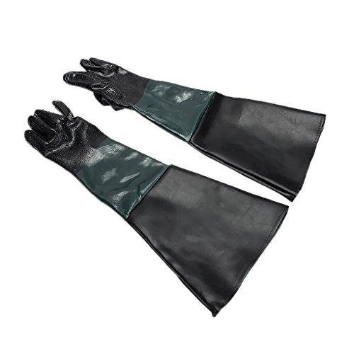 SM SunniMix 60cm Sandstrahlhandschuhe Strahlhandschuhe, aus langlebigen PVC-Materialien