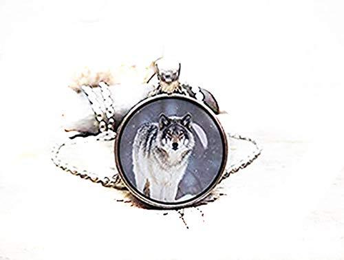 Leonid Meteor Shower Teenwolf Halskette Weiß Wolf Totem Amulett Werwolf Halskette reines Handarbeit