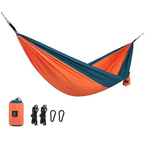 Hamacs, Meubles de Camping Rangement Portable Simple Double Convient pour Plusieurs scénarios Ultra léger Respirant Solide et Durable Charge 180 kg (Couleur: Orange, Taille: 290 * 180 cm) Confortable