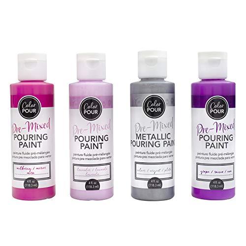 Color Pour Mulberry Bliss Paint Kit, Purples