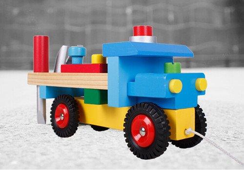新品!組み合わせセット クレーン車&フォークリフト  男の子 おもちゃ/ おままごと/ 知育玩具/ 創意玩具/ 誕生日プレゼント wanj0027 (A)