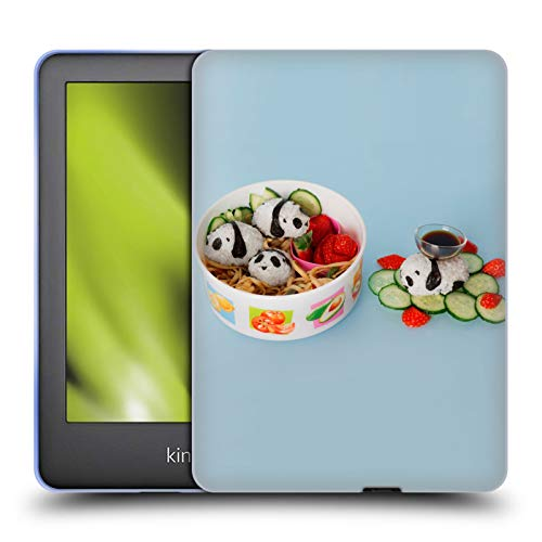 Official Pepino De Mar Panda Rice Ball Foods Soft Gel Case Compatible for Basic Kindle 10th Gen (2019)