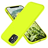 RAIZUS iPhone 11 Case,Liquid Silicone Ultra Slim Gel Cover with [Soft Microfiber Lining Anti-Scratch Shockproof] Full Body Protection Bumper Phone Case, 6.1 inch, Fluorescent Yellow