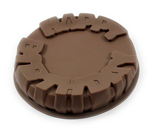 Molde de silicona para tarta de cumpleaños 9'de ancho redondo sartén/lata molde antiadherente para horno