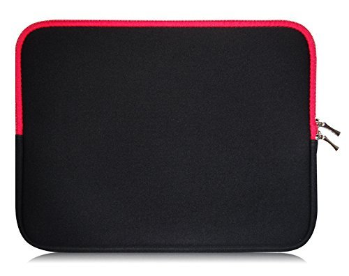 Sweet Tech Schwarz/Rot Neopren Hülle Tasche Sleeve Hülle Cover geeignet für Fujitsu LifeBook E734 Notebook 13.3 Zoll (13-14 Zoll Laptop/Notebook)
