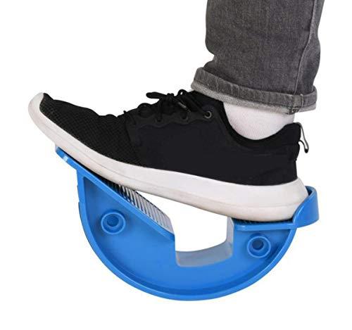 DUTTY Estirador de pie de balancín de Tobillo para tendinitis de Aquiles, Estiramiento Muscular, estirador de pies, Yoga, Fitness, Deporte, Pedal de Masaje (Blue)