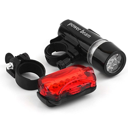 Desert Bike Light, Comes with Free Tail Light, Bicycle Light Installs in Seconds Without Tools, Powerful Bike Headlight Compatible with: Mountain, Kids, Street, Bikes, Front & Back Illumination