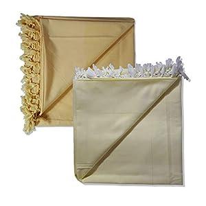 Riyashree Organic Cotton Silky Soft Bhagalpuri Dull chadar Blanket & Duvet ( 53*96 in ) Combo ( Pack of 2 ) CD 03 05