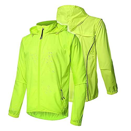 Outdoor Cycling Jacket Men Summer Waterproof,Anti UV Breathable Cycling Running Jacket Gilet,Detachable Cycling Running Gilet,Windproof Cycling Windbreaker Lightweight Mens(Size:XXL)