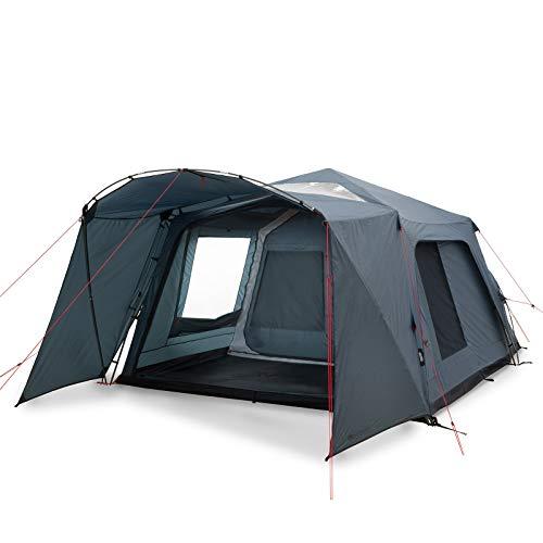 Qeedo Quick Villa 5 Pro (grise), tente familiale avec compartiment de repos, séjour debout,...
