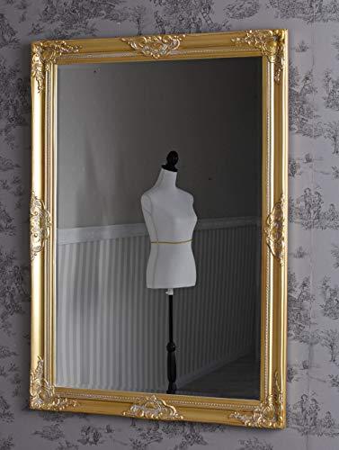 Dielenspiegel Spiegel Antik Gold Wandspiegel Flurspiegel 103 x 73cm Goldspiegel sna011 Palazzo Exklusiv