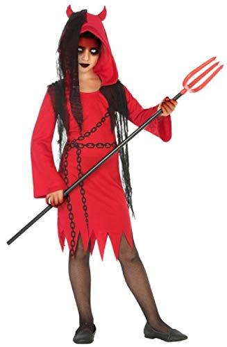 Fancy Me Mädchen Teufel Diva rot schwarz Dämon Gruselig Halloween Karneval Kostüm Outfit 3-12 Jahre