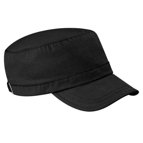 Beechfield - Casquette style armée 100% coton (Taille unique) (Noir)