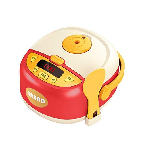 Spielzeug EIN Satz Kinderküchenspielzeugmädchen-Babykochsimulation elektrischer Reiskocher Kinderspielhaus Küche Baby Kochen Simulation Kinderküche Toy Girl Baby Cooking Elektroherd