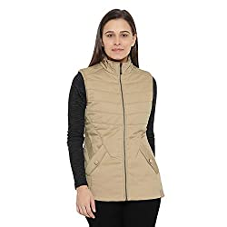 Monte Carlo Beige Cotton Solid Jackets