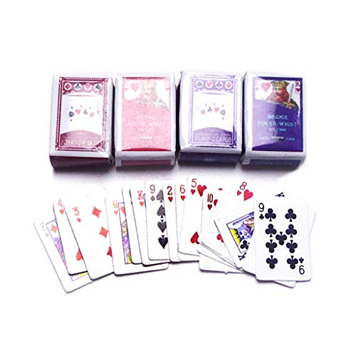 MAGELIYA 2 Juegos de Naipes de plástico a Prueba de Agua Cartas de póquer Naipes Juguetes mágicos Truco de Magia