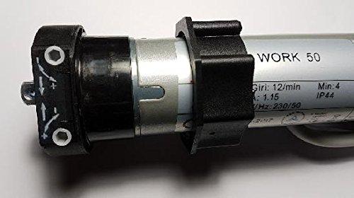 AWITALIA - Motore tubolare per tapparelle, motori tapparella garanzia 2-5 anni, con fine corsa elettromeccanico portata kg.100 Nm50 motore per avvolgibile di facile installazione, completo di staffa