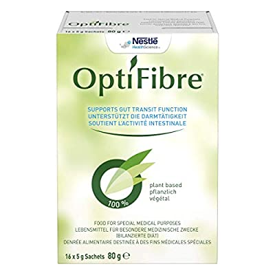 Optifibre Powder, Neutral Flavour, 5g Sachets, Pack of 16 (Gluten Free, Soluble Dietary Fibre, Natural Solution For Constipation and Bloating)