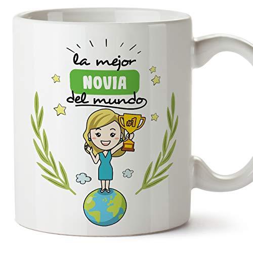 MUGFFINS Taza Novia -Familiares Mundo -Regalos Originales y Divertidos -Tazas de Café y Té
