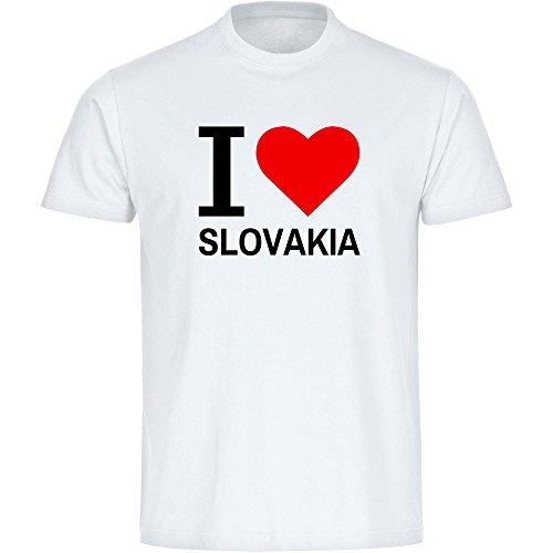 Herren T-Shirt Classic I Love Slovakia - weiß - Größe S bis 5XL, Größe:XXXXL