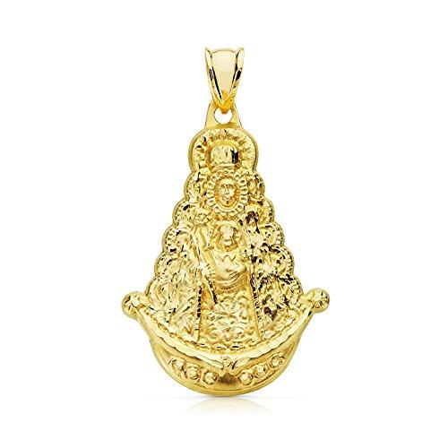 Alda Joyeros Medalla Silueta Virgen Rocío de 35 mm en Oro de 18 Ktes