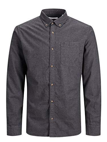 JACK & JONES Male Hemd Button-down Twillweb LDark Grey Melange