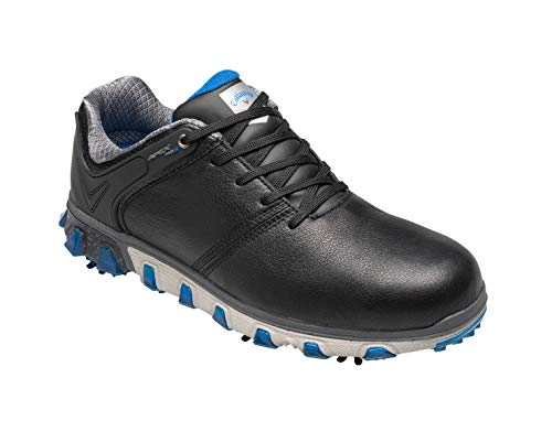 Callaway Herren Apex Pro S Waterproof Golfschuhe, Schwarz Black/Blue, 40 EU
