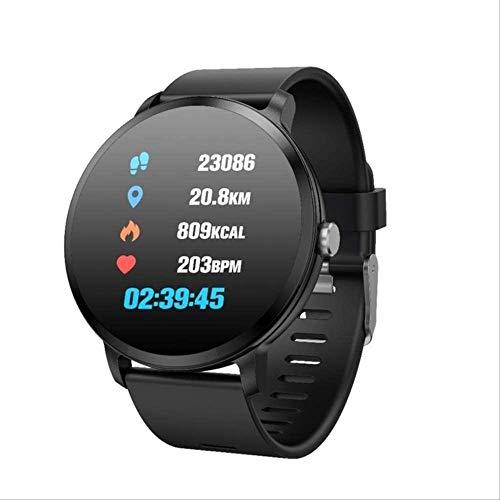 YUJY Smartwatch Sportuhren Herren Smartwatch Herren Wasserdicht Ip67 Fitness Tracker Herzfrequenzmesser Herzfrequenzmesser Schrittzähler Smartwatch Schwarz
