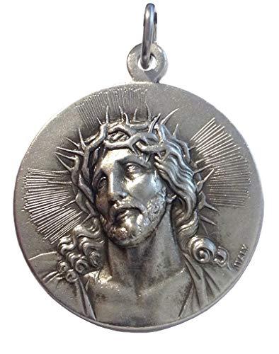 Medaglia del Santo Volto di Gesù Cristo - Ecce Homo - Alto Rilievo - Misura Grande - Big Size - 32 mm