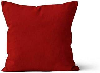Soleil d'Ocre Coussin déhoussable 40x40 cm ALIX rouge