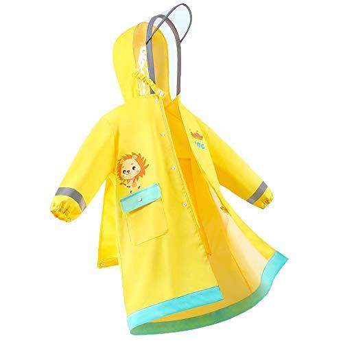 Veste Enfants pluie - Raincoat for adultes Enfants 95-150 adultes Veste de pluie légère Dinosaur Lion en forme de vêtements de pluie for les garçons et les filles Poncho ( Color : #01 , Size : L )