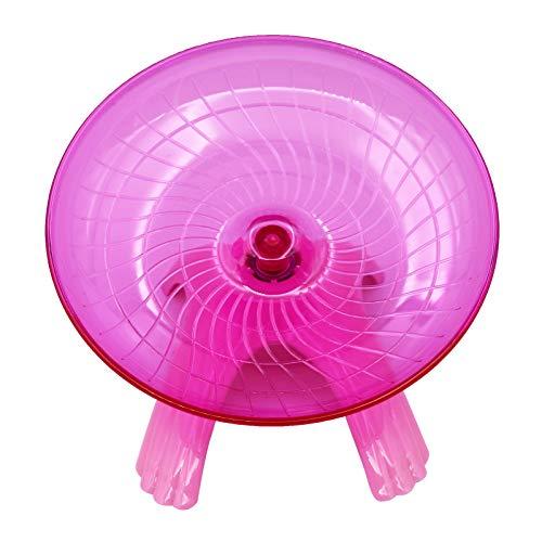 M.Z.A Plato para hámster volador de hámster estable, rueda para hámster, juguete duradero con (rosa)