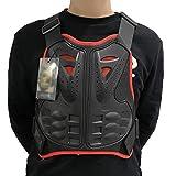 Gilet Protettivo per Moto Protezione del Torace Proteggi la Schiena Gilet di Protezione Sci Giacca Moto Giacca Moto Motocross Body Guard Armatura Protettiva Sport Body Armor Jacket,Rosso,L