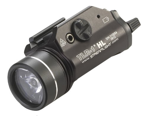 Streamlight 69260 TLR-1 HL 1000-Lumen Tactical Weapon Mount Light With Rail Locating Keys & Lithium...