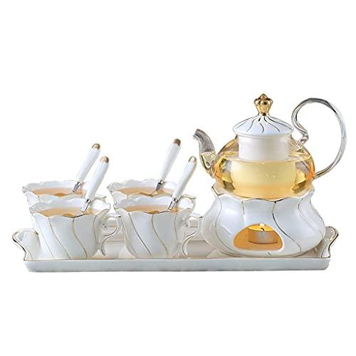 Tea Set Household Glass Belt Filter Candle Heating Afternoon Tea Flower Tea Set Fruit Teapot Tea Gift Sets