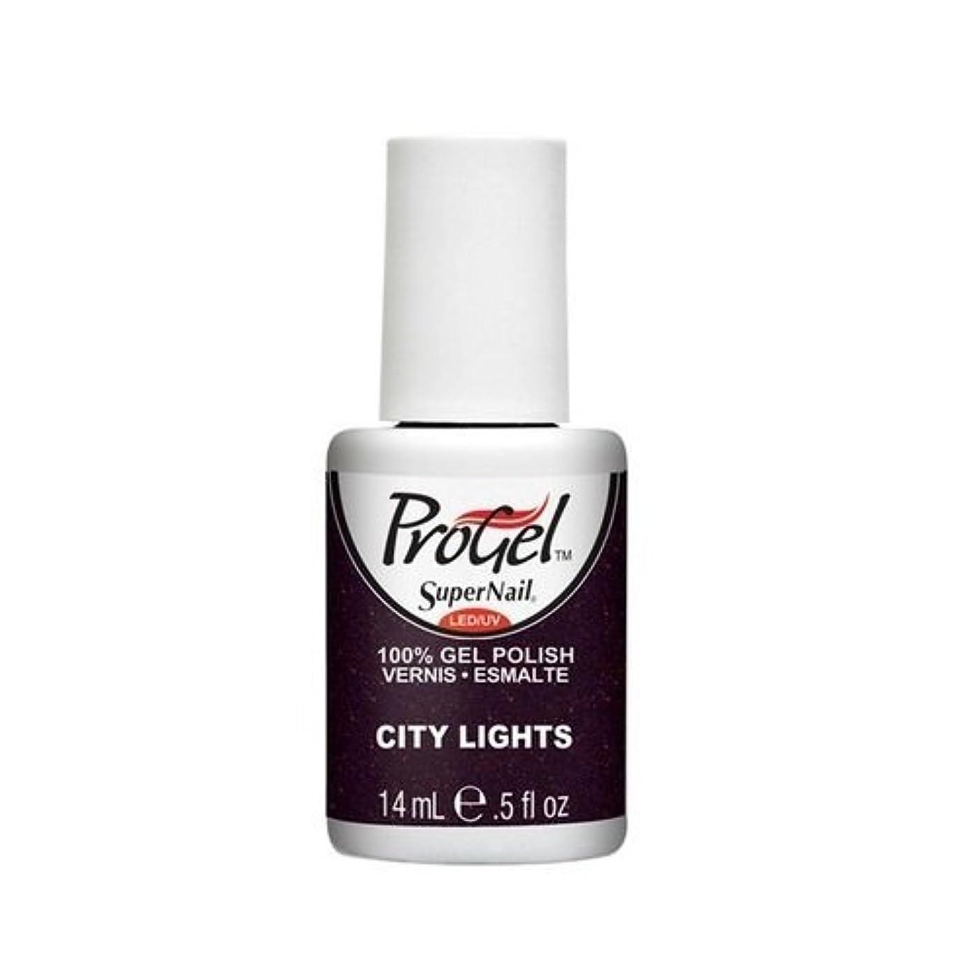 ハシー崇拝します強度SuperNail ProGel Gel Polish - City Lights - 0.5oz / 14ml