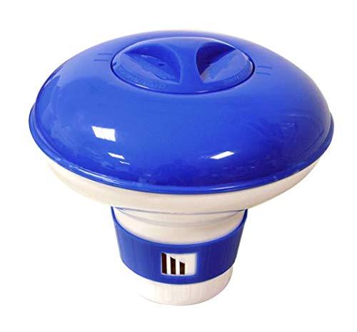 Siqua Dispensador Grande Cloro Flotante. Dosificador Automático Cloro para Piscinas. Kit Mantenimiento Piscinas y SPA. Capacidad 13-15 Pastillas 200g