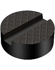 Firecore ジャッキパッド ジャッキ用品 ジャッキアップ用アダプター ゴムジャッキパッド 超高耐久 特殊繊維入り ジャッキ用ゴムパット 溝有タイプ ゴムパッド アルカン ガレージジャッキ アルミジャッキ用 3t