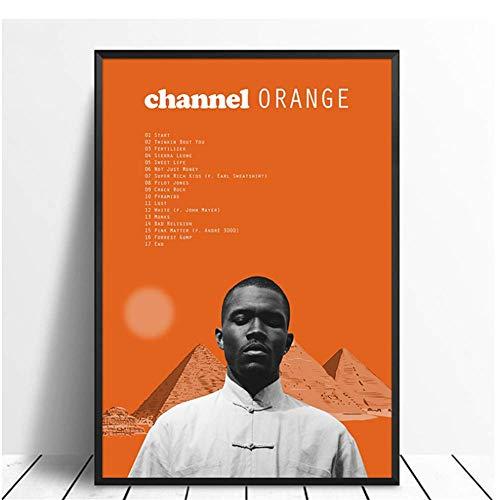 wzgsffs Frank Ocean - Channel Orange Album Pop Music Cover Music Star Poster Canvas Prints Arte de Pared para Sala de Estar Decoración del hogar-60x90cm Sin Marco