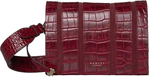 RADLEY LONDON Haven Street Crossbody mit Streifen, klein, Rot (merlot), Einheitsgröße