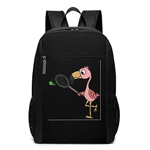 Mochila escolar de viaje, con diseño de flamenco, color rosa, para jugar al tenis, viajes, escuela, bolsa de hombro, para hombres, mujeres y niños