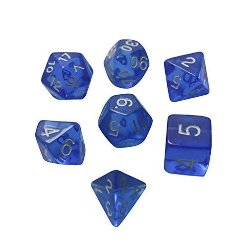 Fijnere 7 stks/partij dobbelstenen set D4, D6, D8, D10, D10, D12, D20 Kleurrijke accessoires voor bordspel, 02