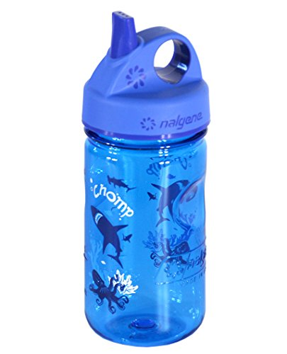 Nalgene Kinder Trinkflasche Everyday Grip-N-Gulp, Blau, 0.35 Liter