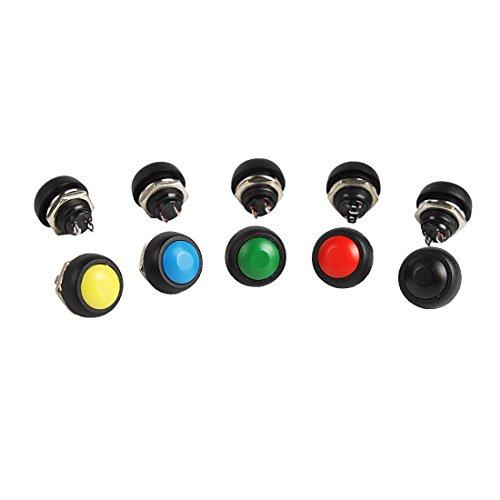Larcele 10x12mm Pulsante Impermeabile Mini Rotonda Momentaneo Ritorno Automatico DIY Bottone ANKG-01(5 Colori)