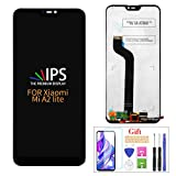 Compatible with Xiaomi Mi A2 Lite LCD Display Screen Replacement,for Xiaomi Mi A2 Lite/Redmi 6 Pro/M1805D1SE/SG/SC/ST Display LCD Panel Repair Parts Kit,with Tempered Glass+Tools (Black No Farme)