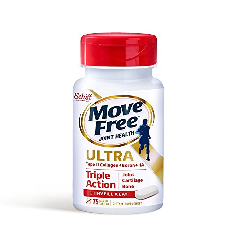 Move Free Ultra Triple Action Joint Supplement with Type II Collagen, Hyaluronic Acid, and Boron for...