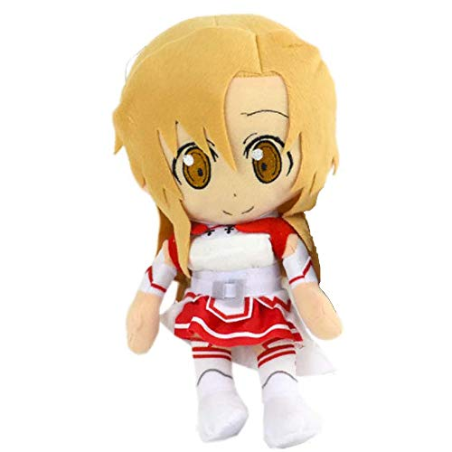 Muxing Sword Art Online Plush Toys, Anime Sao Cosplay Kirigaya Kazuto/Yuuki Asuna Creative Soft Stuffed Pillow Toy para Regalo de cumpleaños de Navidad